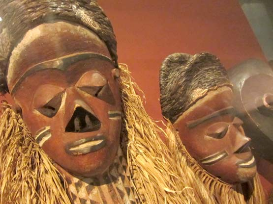 African masks at the Horniman museum