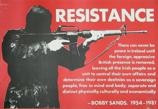 IRA Poster quoting Bobby Sands