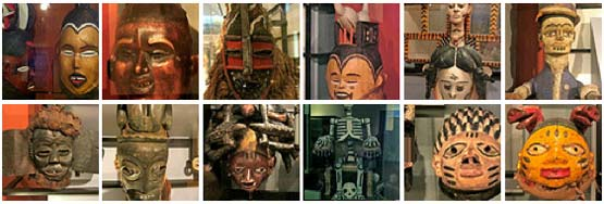 Photoset of Horniman Museumn masks on Flickr