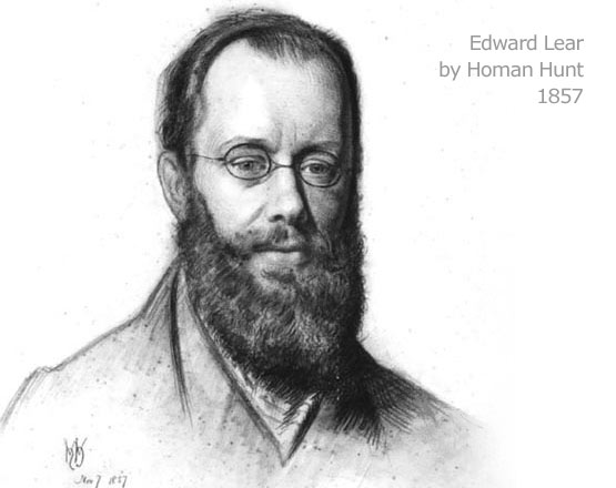 Edward Lear by Holman Hunt, 1857