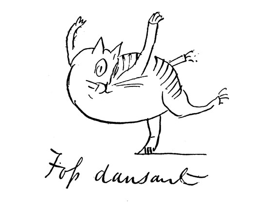Foss Dansant from The Heraldic Blazon Of Foss The Cat by Edward Lear