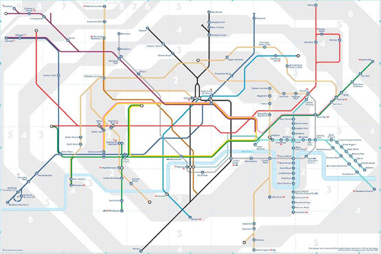 London Tube Map showing step free access