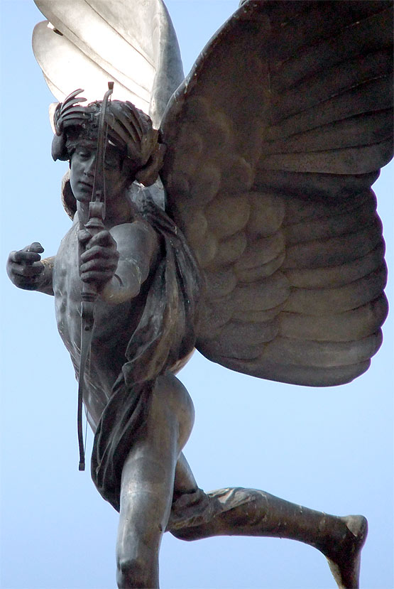The Angel of Christian Charity (Anteros) by Alfred Gilbert in Picadilly Circus, London