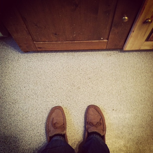 New fleece-lined moccasins