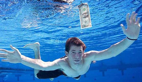 Spencer Elden recreates Nevermind cover shot in 2008