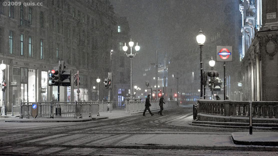 Midnight at Oxford Circus by Chris Hill-Scott 2/2/2009