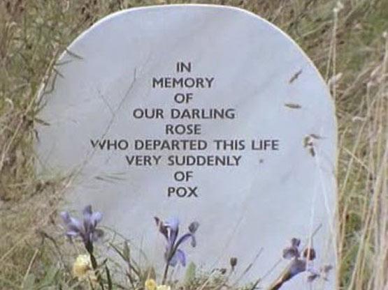 Rose's gravestone