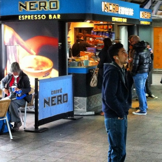 Caffe Nero stall at Clapham Junction station