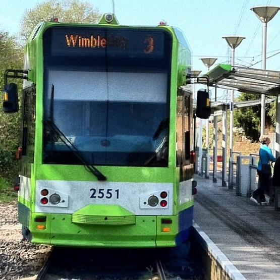 Wimbledon-bound tram