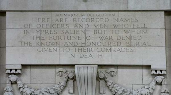 Menin Gate inscription, Ypres