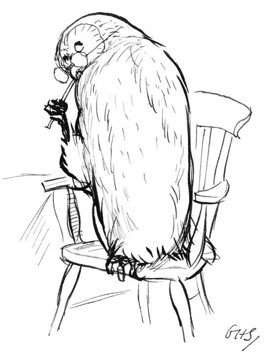 Owl by E H Shepard - from